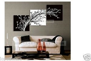 Modern-Abstract-Huge-Wall-Art-Oil-Painting-On-Canvas-black-white-TREE-No-Frames