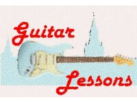 Guitar Lessons available for beginners to intermediate.