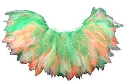 Neon Tutu Skirt St Paddy's day Green White Gold Irish 80s Fancy Dress HEN PARTY