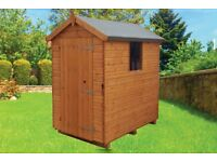 6'x4' Mangham Apex Garden Shed Tongue & Groove Treated Timber Only £299 Free Delivery & Installation