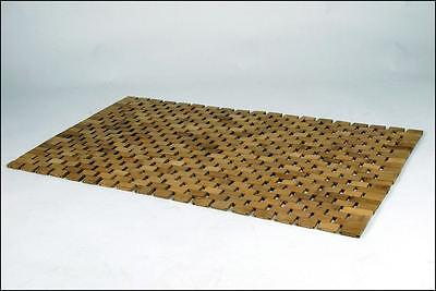 Bambus Badezimmermatte 80x50 - Badvorleger Bambusmatte Holz Badmatte Vorleger