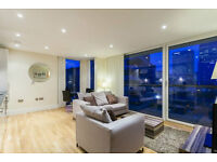 **** HIGH FLOOR AMAZING 2 BEDROOM APARTMENT IN SOUTH QUAY CANARY WHARF ****