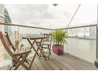 8th floor one bedroom flat in New Providence Wharf, E14, balcony, gym, porter, river views, pool