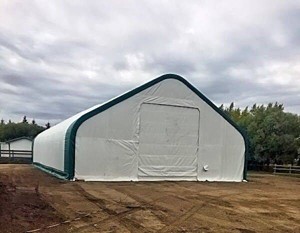 Fabric Shelter 8 10 : New double truss fabric storage building shelter