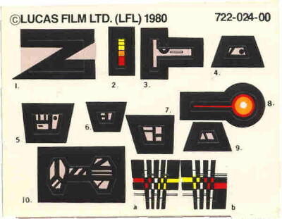 Vintage Replacement Star Wars Vintage Hoth Turret & Probot Stickers Labels