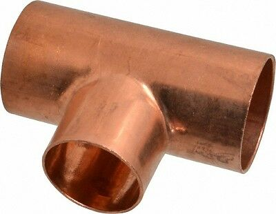 1 14 Plumbing Copper Fitting Sweat Tee Cxcxc  Lot Of 10
