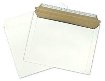 50 Rigid Shipping Envelopes 9.5 X 12.5 Document Mailer Self Seal White Envelope