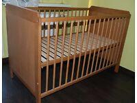 IKEA LEKSVIK cot bed in Antiqu Pine