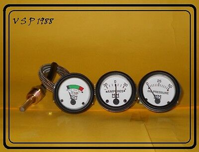 Minneapolis Moline Temp Oil Pr Ampere Gauge Set- Gruz335400445 500 600