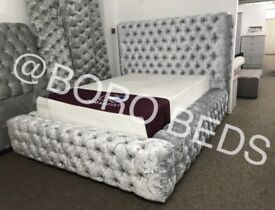HIGH QUALITY- CRUSHED VELVET BEDS