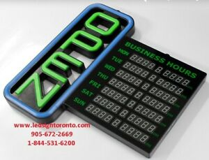 LED Open Sign Business Hours