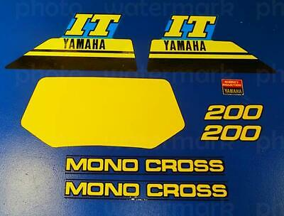1986 Yamaha IT200 8pc graphics 86' vintage decals stickers kit MX IT 200