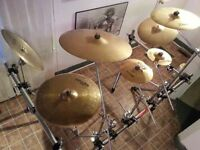 Swap/Cash  Full Double Bass Setup, Rack, TONS of Cymbals, MORE!