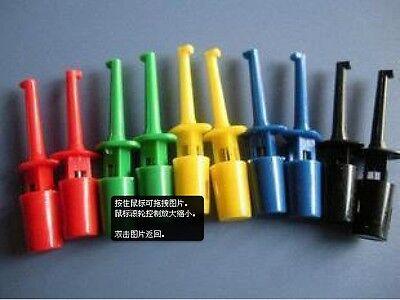 New 10pc Multimeter Lead Wire Kit Test Hook Clip Grabbers Test Probe SMT/SMD IC
