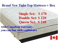 █♣█Blow out Sale-Brand New tight top MATTRESS+ BOX -all sz avail