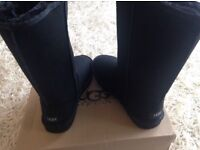 Black Ugg Boots complete with Box