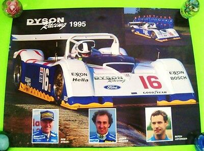 "RARE Original 1995 DYSON RACING TEAM F-1 AUTO RACE POSTER 24"" X 18"" Xlnt+"
