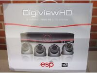 ESP HDV8KD 1TB DigiviewHD 8 Channel Dome Cameras True HD CCTV System NEW SEALED