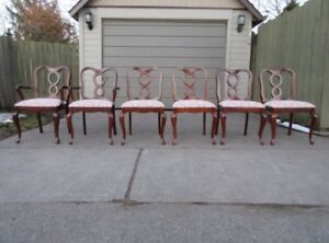 GIBBARD CHANTILLY COLLECTION DINING ROOM CHAIRS SET OF 6