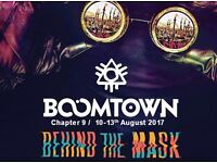 Boomtown Festival Tickets 2017 x 2