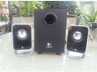Logitech LS21 stereo system.