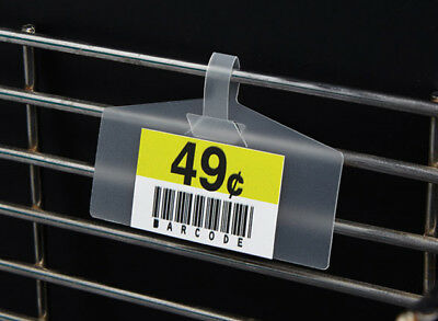 New Pack Of 50frosted Label Holders For Basketwire Rackmetal Shelf Upc Tag