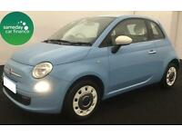 £120.04 PER MONTH BLUE 2013 FIAT 500 0.9 TWINAIR COLOUR THERAPY PETROL MANUAL