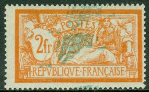 picture of FRANCE : 1907. Yvert #145a Double impression of Green Signed 2x VF MOG Cat 550.
