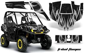 Tribal Flame Black Wrap for Can-Am Commander