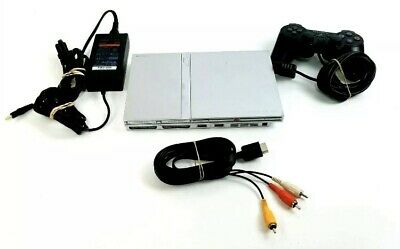 Sony PS2 SLIM Video Game System Console Playstation 2 / Controller / Cables