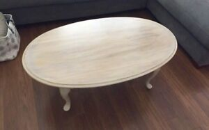 Wooden, white washed antique table