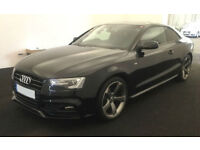 Black AUDI A5 COUPE 1.8 2.0 TDI Diesel BLACK EDITION PLUS FROM £103 PER WEEK!