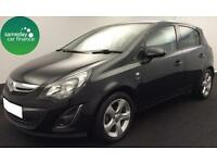 £110.39 PER MONTH BLACK 2012 VAUXHALL CORSA 1.2 SXi 5 DOOR PETROL MANUAL