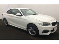 BMW 228i Coupe M Sport Auto White Leather 2015 FROM £93 PER WEEK!