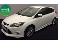 £208.22 PER MONTH WHITE 2013 FORD FOCUS 1.6 ZETEC S 5 DOOR DIESEL MANUAL