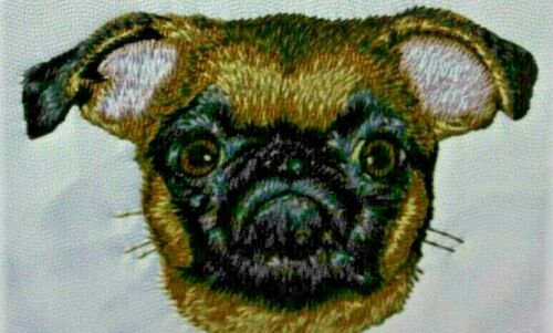 Brussels Griffon Dog Breed Bathroom SET OF 2 HAND TOWELS EMBROIDERED