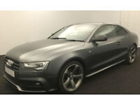 Grey AUDI A5 COUPE 1.8 2.0 TDI Diesel SPORT S LINE FROM £72 PER WEEK!