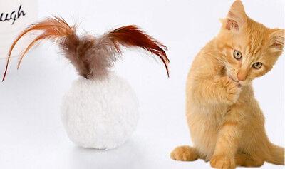 Cat Plush Ball 10Pcs Toy Mint Pet Bird Feather Teaser with Catnip Play Scratchts