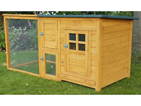 CHICKEN COOP AND RUN HEN HOUSE POULTRY ARK HOME NEST BOX COUP COOPS RABBIT HUTCH