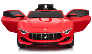 2018 Maserati LED Kids 12v Ride on Car with RC,Mp3,Rubber Wheels