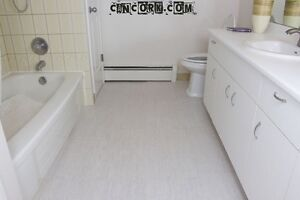 Make wood your bathroom floor with our flooring tiles.