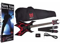 Kerry King BC Rich Warlock Edition Electric Guitar (Black & red Tribal Flames pattern)