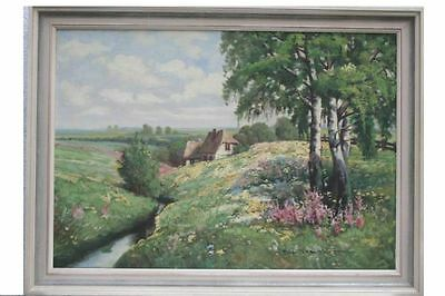 Peter Hagen - Frühlingslandschaft mit Bauernhof