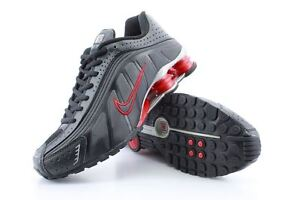 Men's Nike Shox R4 Black Red SIlver US 11