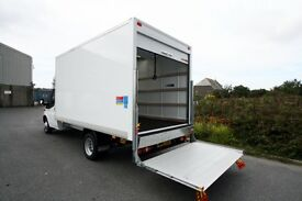 24/7 MAN AND VAN REMOVAL & HOUSE MOVING SERVICE HIRE LUTON TRUCK WITH TAIL LIFT PALLET MOVERS LIFTER