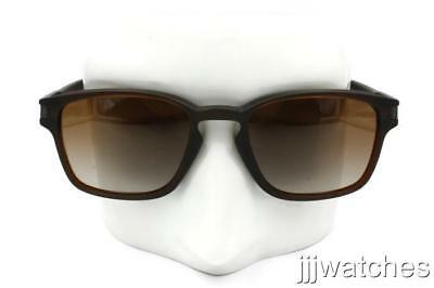 New Oakley Latch Square Matte Brown Gradient Lens Sunglasses OO9353 09 (Square Latch)