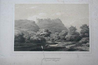 Altenbaumburg  -  Rheinland-Pfalz  -  Lithographie
