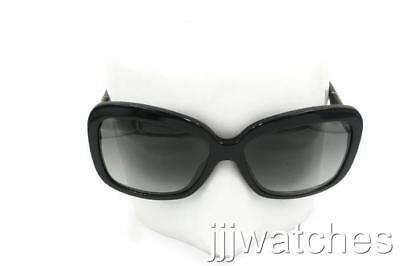 b88d6b6fbdba Burberry Square Polished Black Sunglasses Gray Gradient BE4173 300111 58  $240