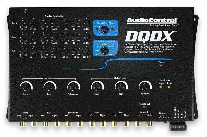AudioControl DQDX, Digital Signal Processor with EQ, Crossover and Signal Delay