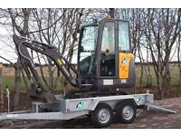 NEW INDESPENSION 8 x 4 LOW LOADER PLANT TRAILER ++ SAVE £385+vat ++ (2700KG gross) digger tractor